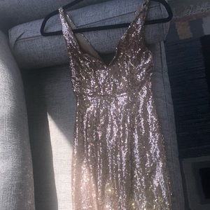 Lulu s Dresses - lulus HERE TO WOW GOLD SEQUIN MAXI DRESS 0b122e8cd